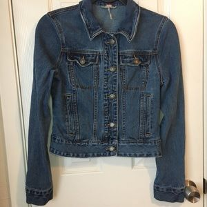 Free People Fitted Denim Jacket Size XS
